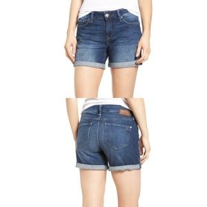 Mavi Marla Roll Cuff Denim Shorts Sz 24